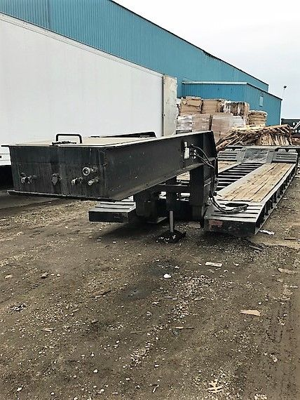 Refurbished  Egger Beaver 35 ton low boy 23 FOOT WELL trailer