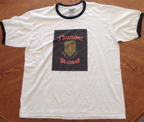 New Custom Big Red One Thunder Road Iron Triangle Vietnam Vet Tee Shirt Adult XL