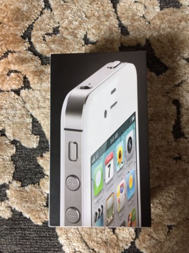 APPLE iPHONE 4 8GB WHITE ORIGINAL EMPTY BOX with INSERT ONLY - NO PHONE
