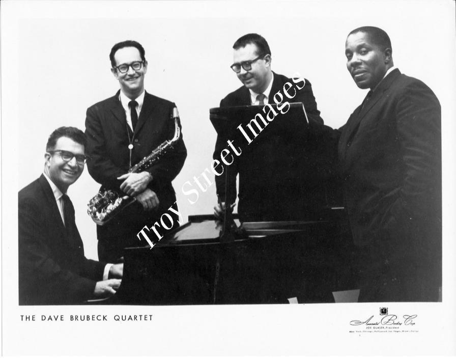 Original B&W promo photo of the classic DAVE BRUBECK QUARTET, late 1950s