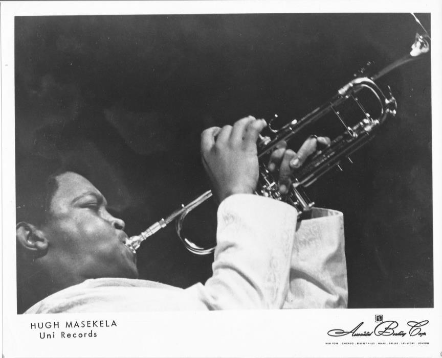 Orig 8x10 promo photo #1 of jazz trumpeter, bandleader HUGH MASEKELA, late 1960s