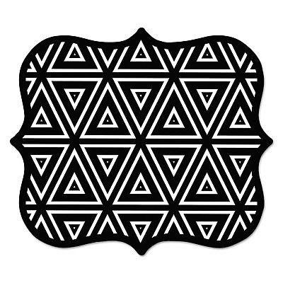 Designer Mouse Pads, Geometric Triangles, 9 x 8 x 3/16