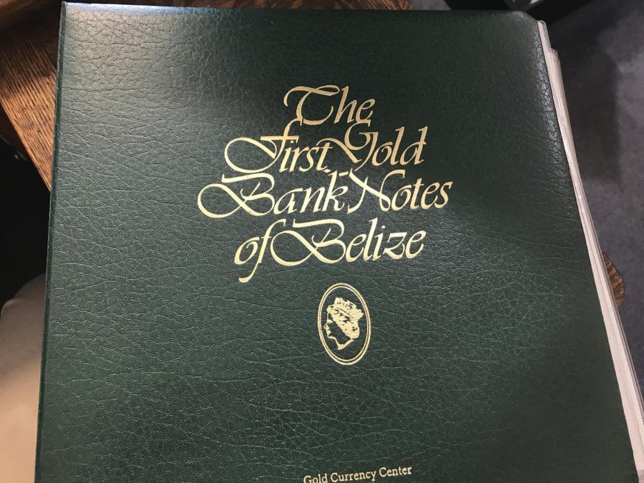 First Gold Bank Notes of Belize Incmplt set of 30/36 22k Legal Tender Value $785