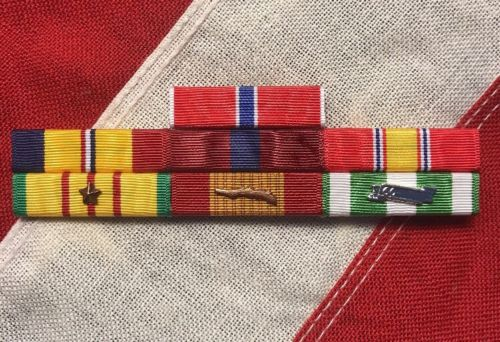 Marine Corps Combat Action Good Conduct, Bronze Star, Vietnam War Mounted Set 7