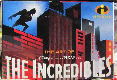 New*Sealed*Disney/Pixar ART OF THE INCREDIBLES-30 POSTCARDS-From 2004!