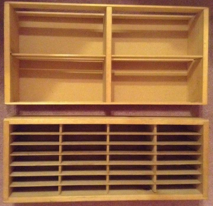 2 Napa Valley Wood Storage Display Rack Box Holds 100 & 56 CD Or 8 Track Tapes