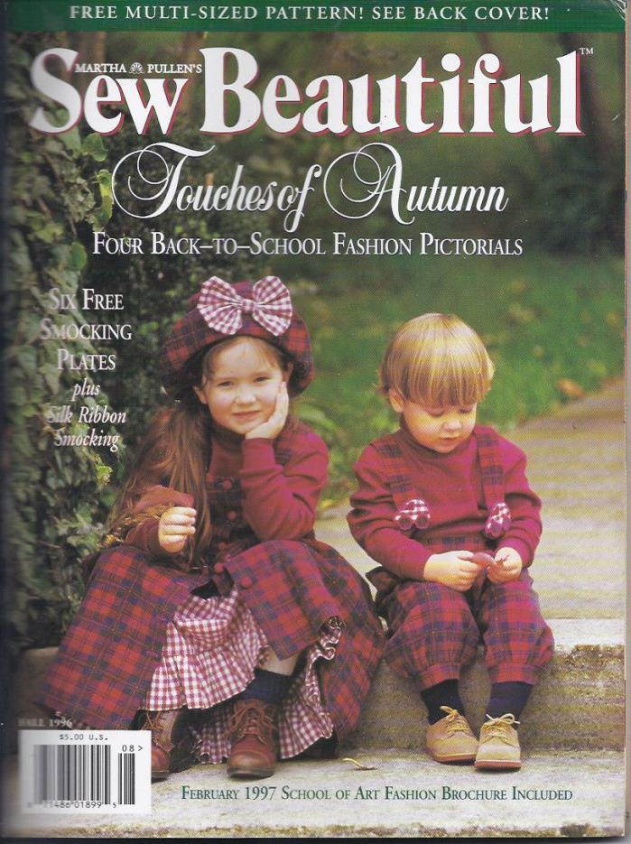 Martha Pullen's Sew Beautiful Magazine Fall 1996 Uncut Patterns Included
