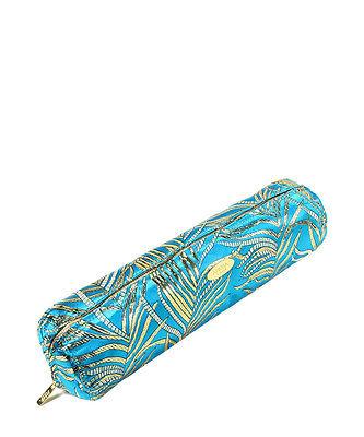 Amrita Singh Hongkong Silk  Bangle Case Turquoise Silk
