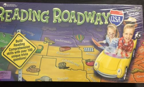 Learning Resources Reading Roadway USA 2 to 4 Players Reading Comprehension Game