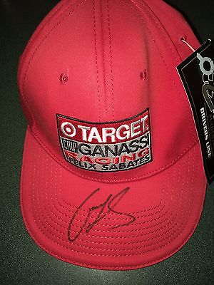 Casey Mears on Target Chop Ganassi racing team hat with tag $19