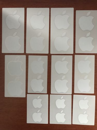 Apple OEM Stickers lot of 22 in 3 sizes