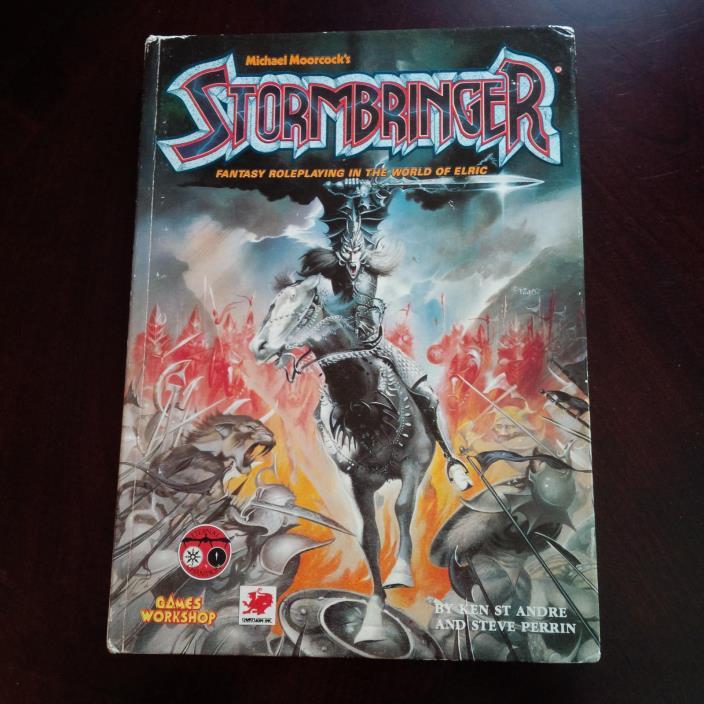 Stormbringer rpg book Games Workshop fantasy roleplaying in the world of Elric