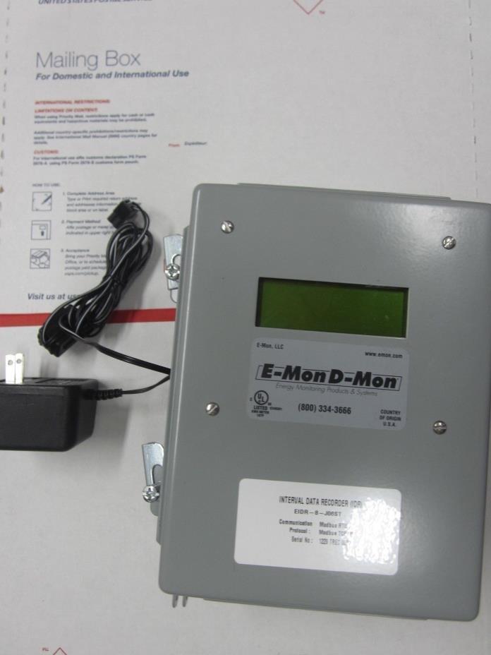 E-mon D-mon EIDR-8-J06ST INTERVAL DATA RECORDER