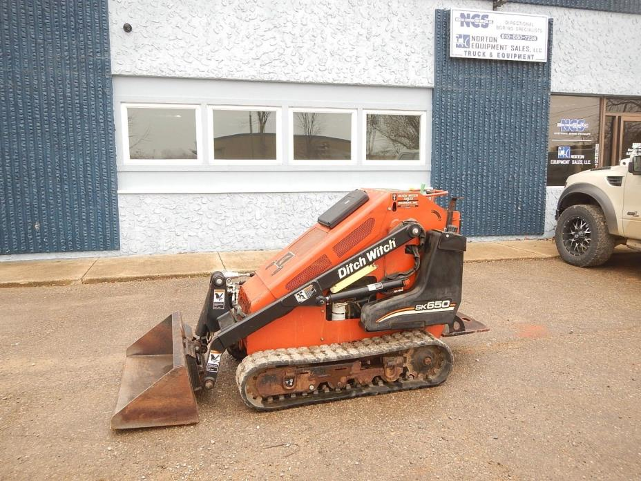 2007 Ditch Witch SK650 Mini Track Skid Steer All Terrain Loader