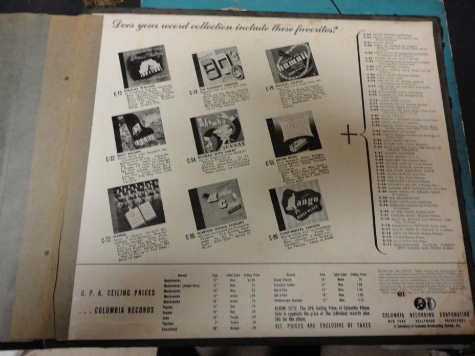 Frank Sinatra - Columbia Records album - 2 10