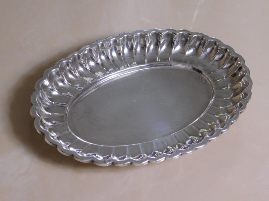 Sterling Silver Scalloped Oval Tray ~ 5 7/8