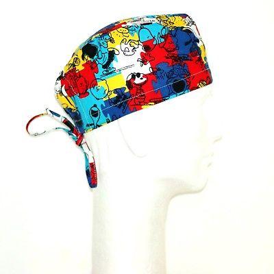 Colorful Peanuts Gang  theme  scrub hat