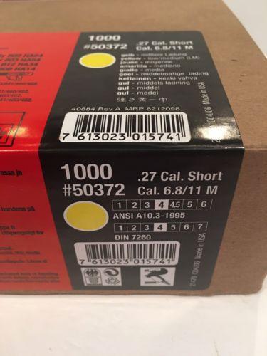 Hilti .27 Cal Yellow Shots Box Of 1000