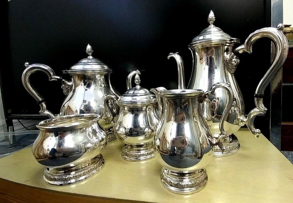 International Prelude Sterling Silver Tea Coffee Sugar Cream Spooner Set C366