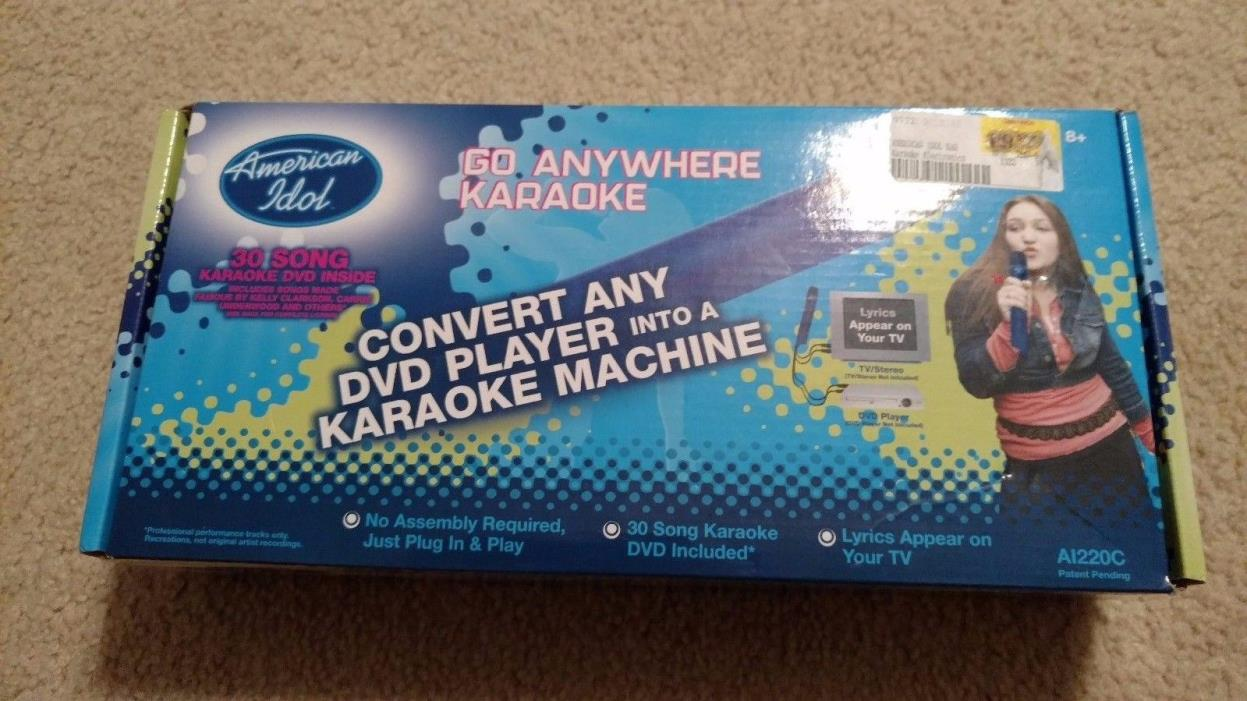 American Idol Karaoke Go Anywhere A1220C, microphone, DVD, portable, new in box