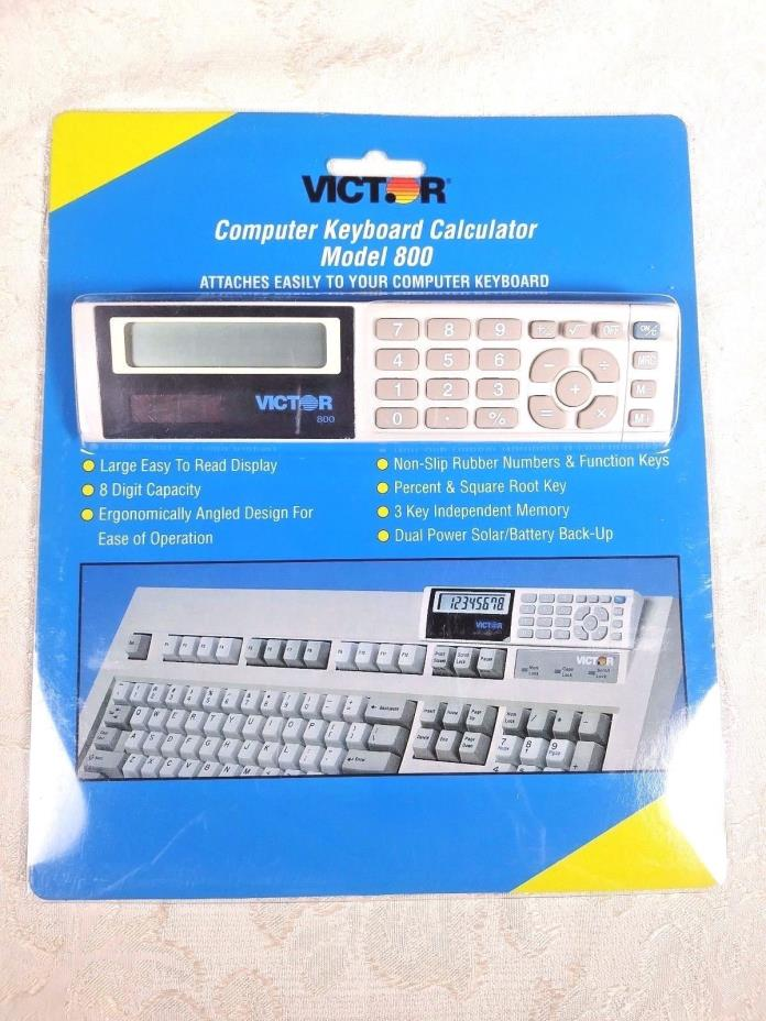 Victor Computer Keyboard Calculator Model #800 New in Box #OC594
