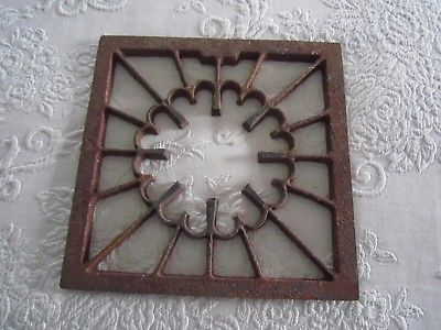 Vintage Decorative Cast Iron HEAT GRATE VENT REGISTER 9
