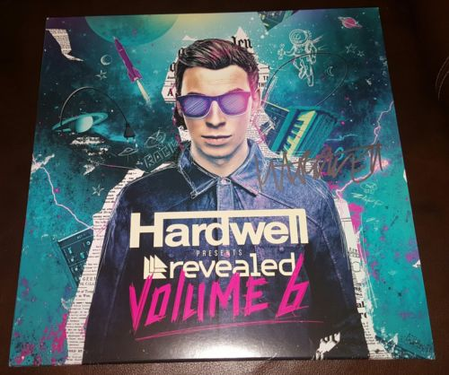 HARDWELL signed auto REVEALED VOLUME 6 Vinyl LP PROOF