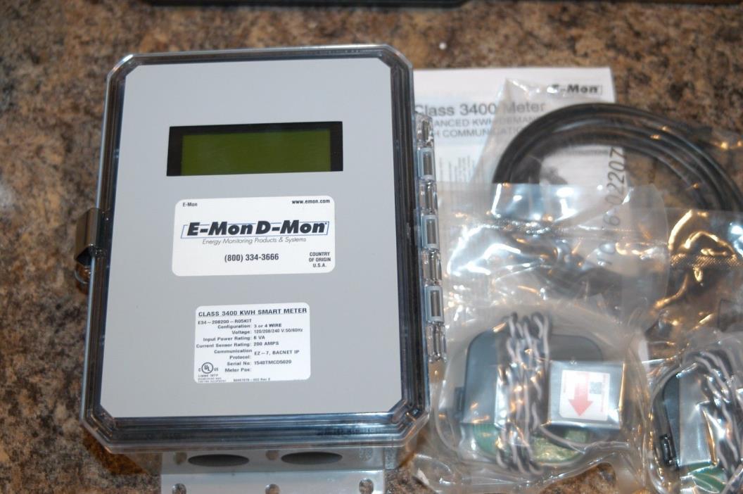 E-MON D-MON  CLASS 3400 KWH  METER  120/208/240 V. 200 AMPS