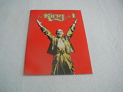 ORIGINAL 1984 KING AND I SOUVENIR PROGRAM YUL BRYNNER CHICAGO IL