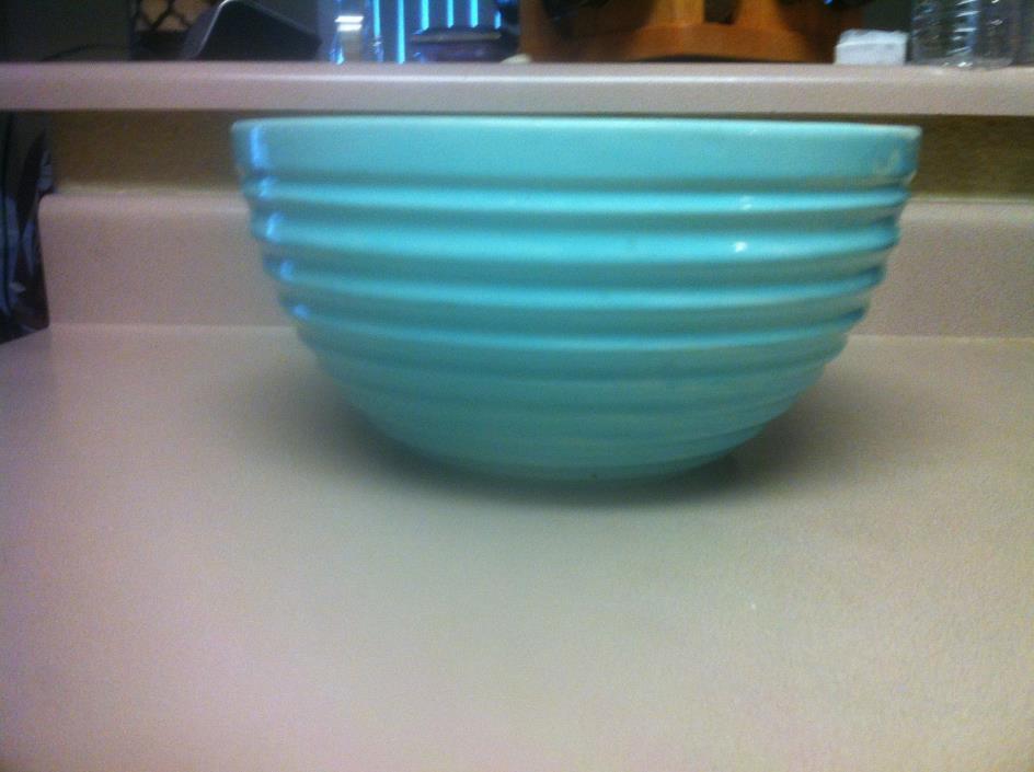 Vintage Bauer Pottery Ring Ware Light Blue 10 1/4