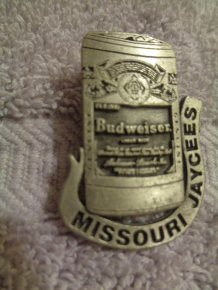 Missouri Jaycees Budweiser Can Lapel Pin--Hat pin-Trading pin