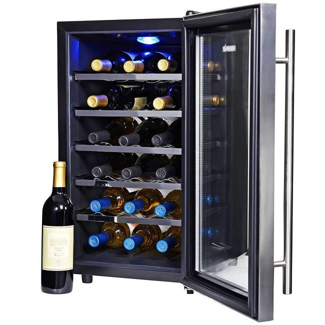 Wine Cooler Refrigerator Coolers Fridge Small Thermoelectric Black Best Fridges