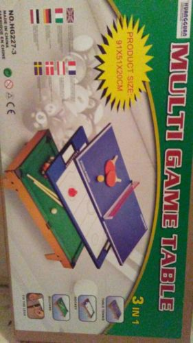 3 In 1 Multi Table Game Air Hockey Tennis Billiard Pool Table Christmas Gift