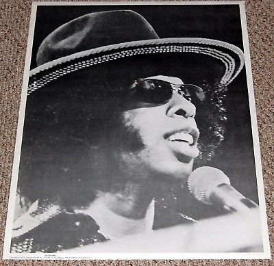 Sly And The Family Stone In Concert Black White Poster 1974 Charisma Chain Funk