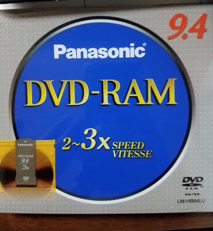 BRAND NEW IN WRAPPER- Set of 5 Panasonic DVD-RAM 9.4 GB Version 2.1 / 3X-SPEED