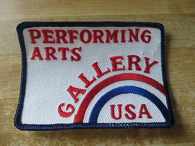 Performing Arts Gallery advertising USA,old souvenir destination theater patch