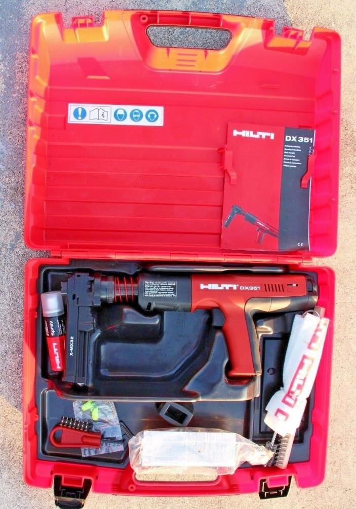Hilti DX 351 With X-MX 32 Magazine - Powder Actuated Tool! EXCELLENT Condition!