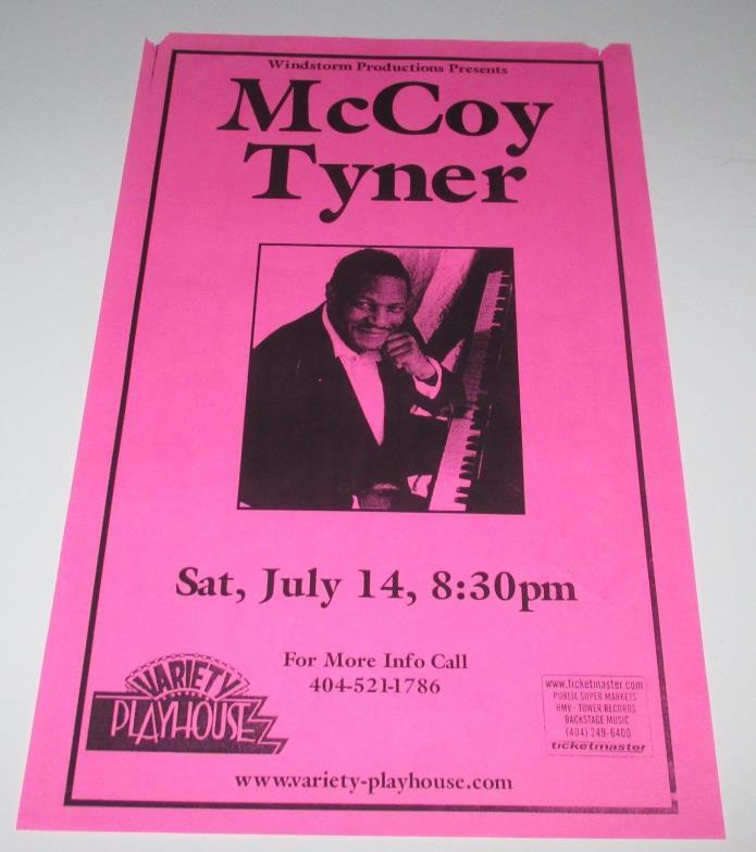 McCOY TYNER   Concert Poster / Variety Playhouse ATLANTA : July 14, 2001 !!