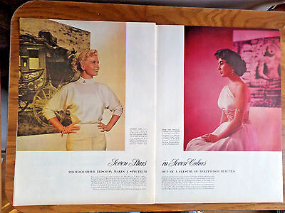 1953 Movie Photo Article Ad  Doris Day Taylor Fleming Hepburn Gilbert Charisse