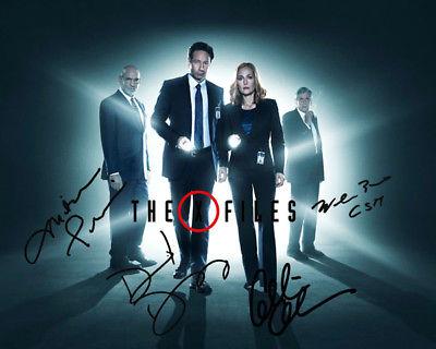 Gillian Anderson David Duchovny X-Files Cast Signed TV Photo Autograph Reprint