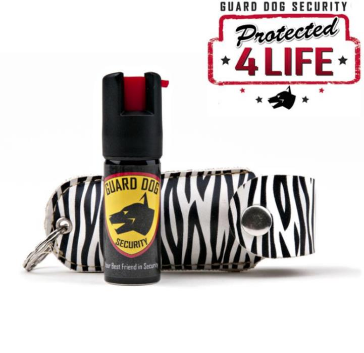 Zebra Personal Defense Pepper Spray OC-18 1/2 oz With Leather Case , 6 Pack