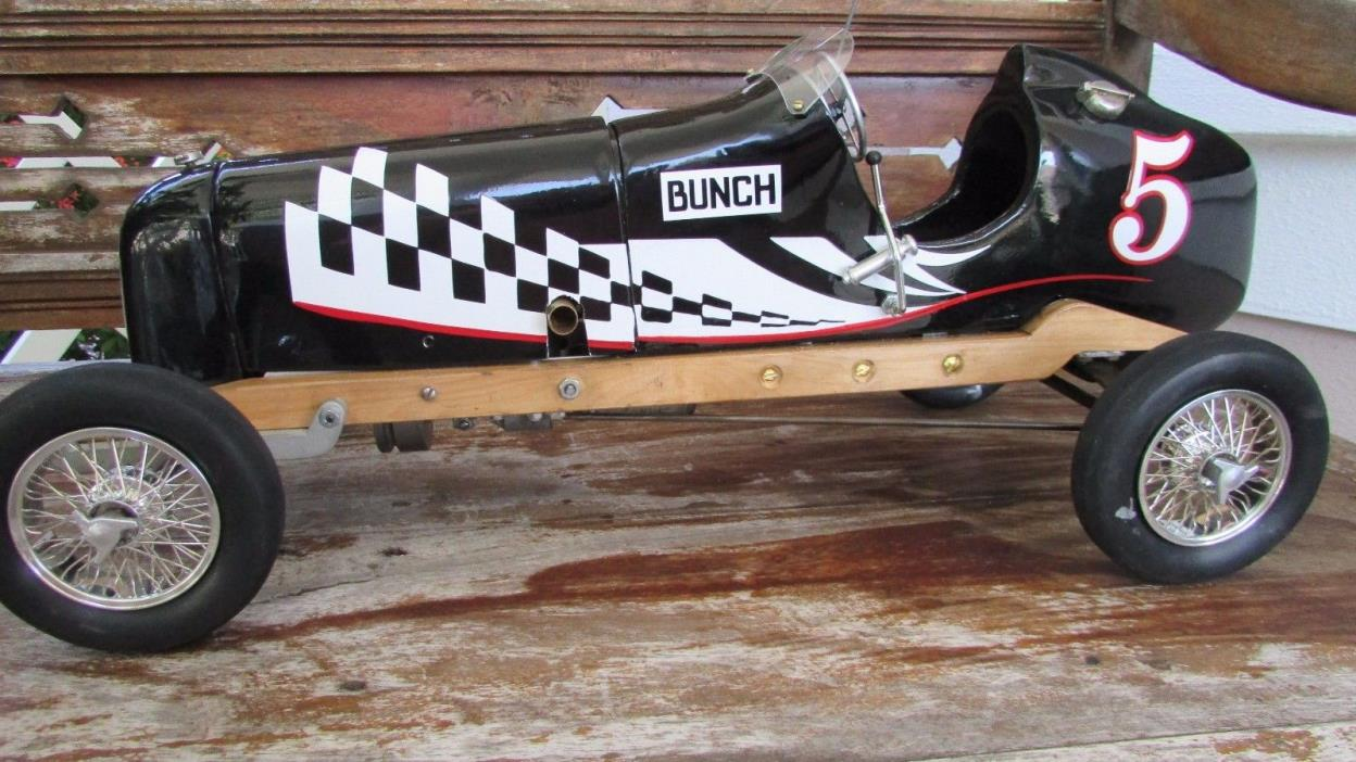 1940 Bunch speed demon tether race car Bunch 48 gas ignition engine clutch drive
