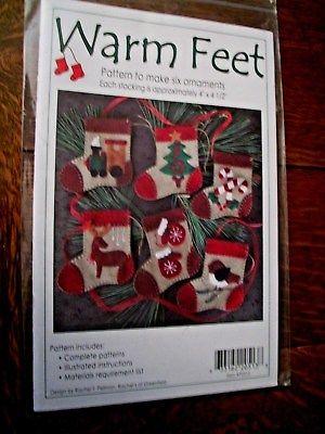 Patterns for six Felt Ornaments