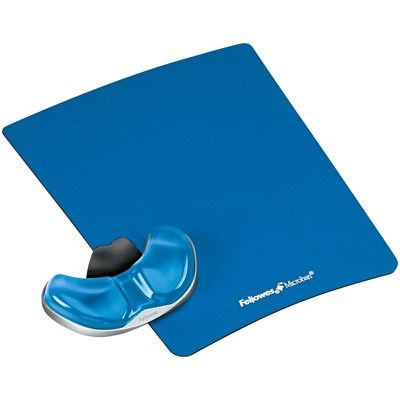 FELLOWES 9180601 Gliding Palm Support with Microban  Protection (Blue)