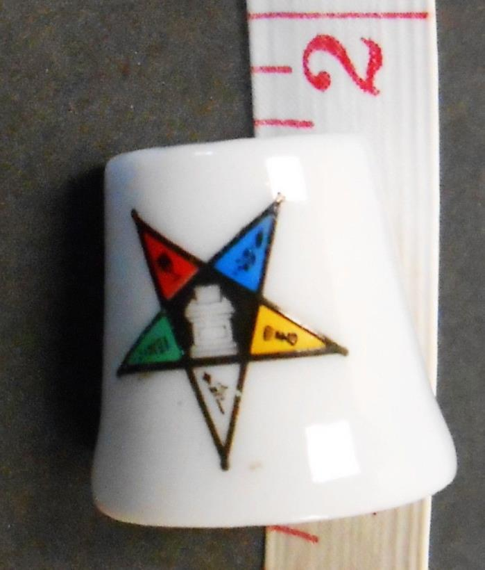 VINTAGE FRATERNAL ORDER EASTERN STAR THIMBLE 82 MARKED IN GOLD