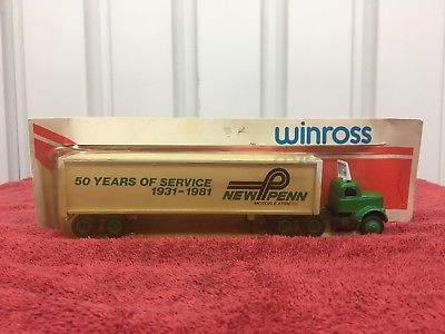 N Winross 1/64 S Scale 1981 New Penn 50 Yrs Service Tractor Trailer New in PKG