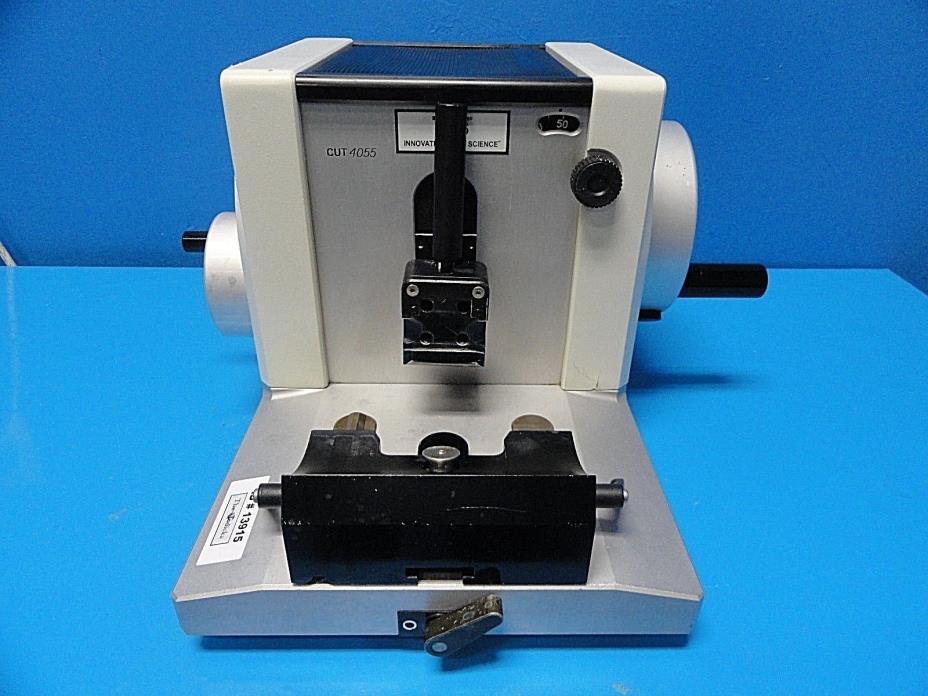 2005 TBS Miro Tec CUT 4055 Manually Operated Rotary Microtome W/ Block ~ 13915