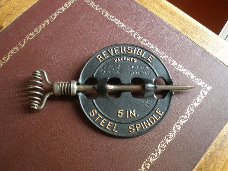 Vintage GRISWOLD STOVE DAMPER - 5 inch - Spindle - Steampunk