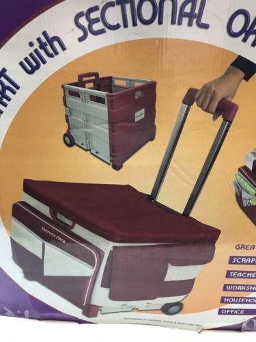 MemoryStor ROLLING ORGANIZER PULL CART Teacher Scrapbook Storage BAG