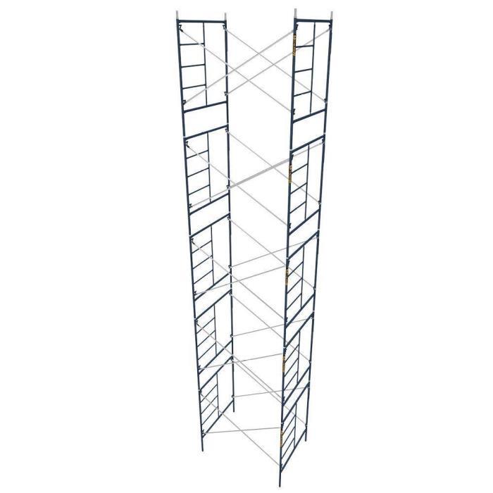 Blue Weather Resistant 5-Sets 5 ft. x 7 ft. x 6.4 ft. Mason Scaffolding Kit